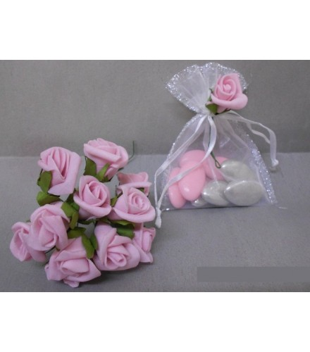Fleur Déco Dragées : Rose en Mousse