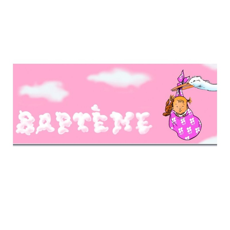 Banderole bapt me fille 2 44 m deco naissance deco for Decoration bapteme fille