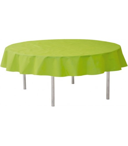 nappe ronde jetable 240 cm vert anis nappes de table drag e d 39 amour. Black Bedroom Furniture Sets. Home Design Ideas