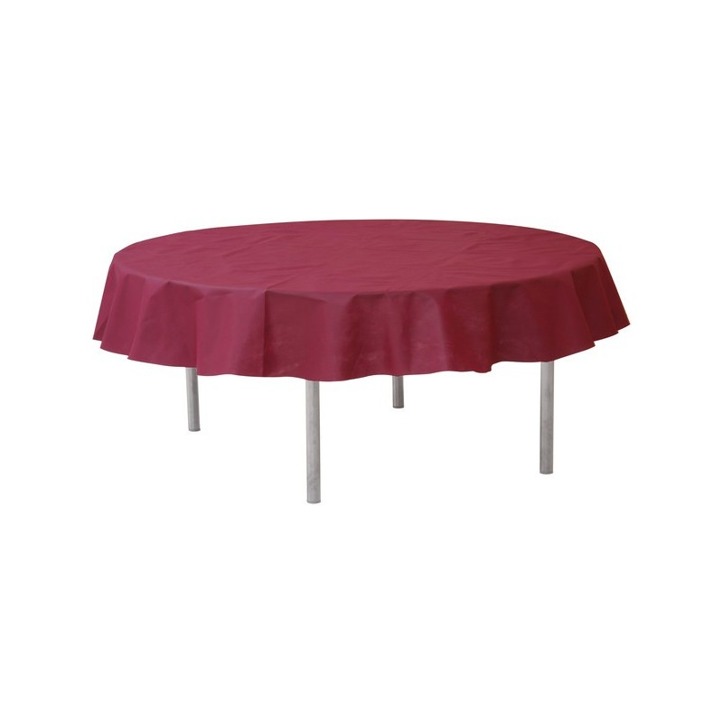 nappe ronde jetable 240 cm bordeaux nappe jetable drag e d 39 amour. Black Bedroom Furniture Sets. Home Design Ideas