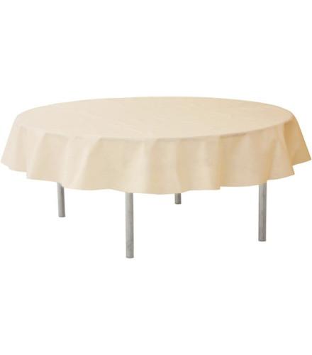 Nappe ronde jetable 240 cm ivoire nappes de table - Nappe pour table ronde ...