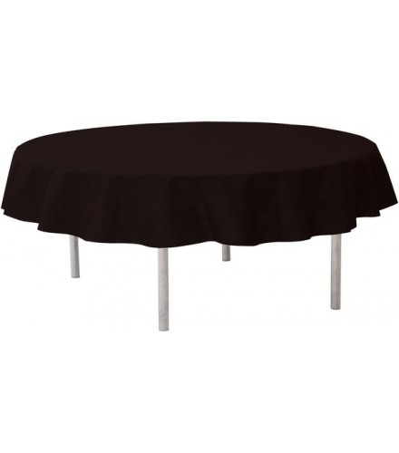 nappe ronde jetable 240 cm noire nappes de table drag e d 39 amour. Black Bedroom Furniture Sets. Home Design Ideas