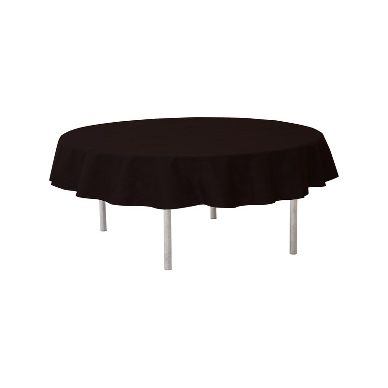 nappe ronde jetable 240 cm noire nappe jetable drag e d 39 amour. Black Bedroom Furniture Sets. Home Design Ideas