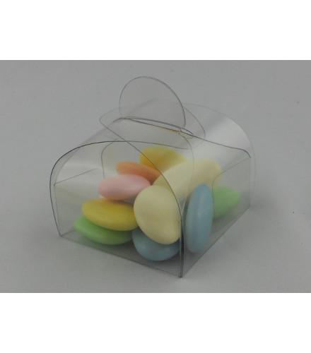 Ballotin à dragées carré transparent