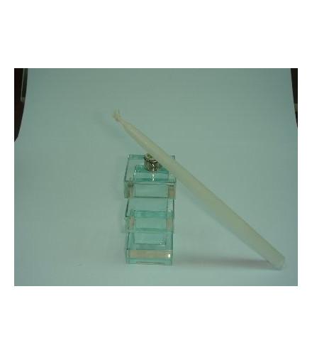 Petit bougeoire design transparent en verre