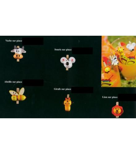 6 pinces déco originales animaux