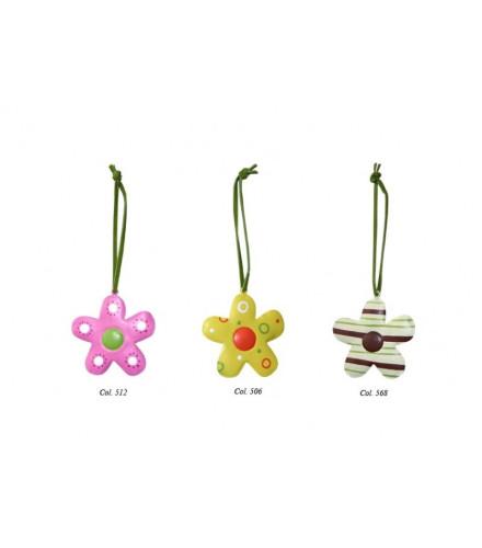 Fleurs en métal à suspendre