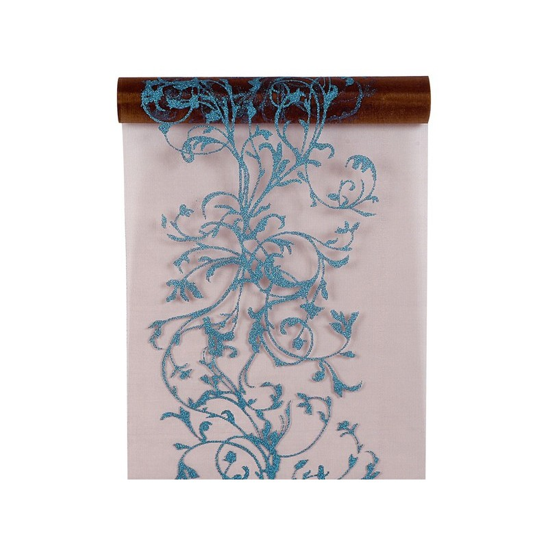 Chemin de table jetable color arabesque oriental organdi drag e d 39 amour - Chemin de table en papier jetable ...