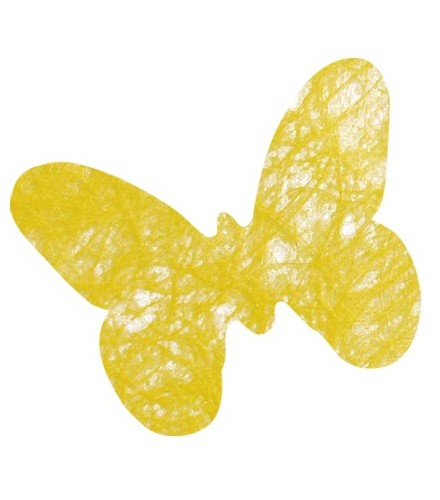6 sous verres colorés en tissu papillon