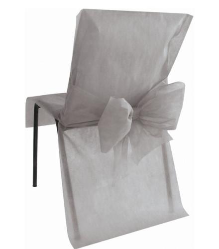 10 housses de chaise en tissu non tissé coloré avec noeud