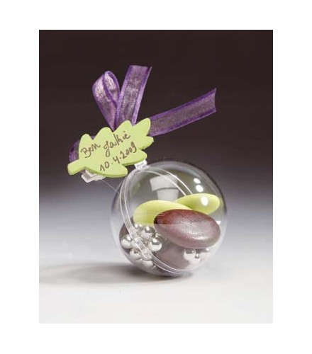 10 boules Plexi Transparente (5 cm)