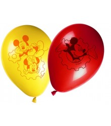 8 ballons gonflables Mickey jaune et rouge