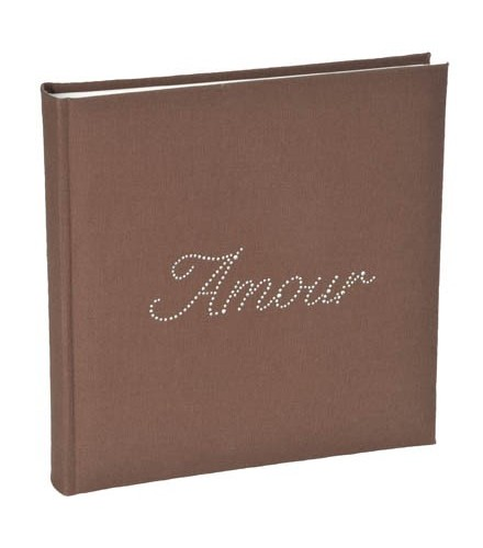 "Livre d'Or Strass ""Amour"" chocolat"