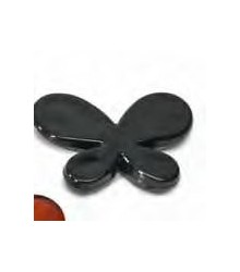 10 déco de table papillon noir translucide