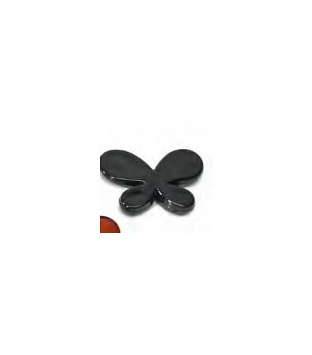 10 déco de table papillon noir translucide