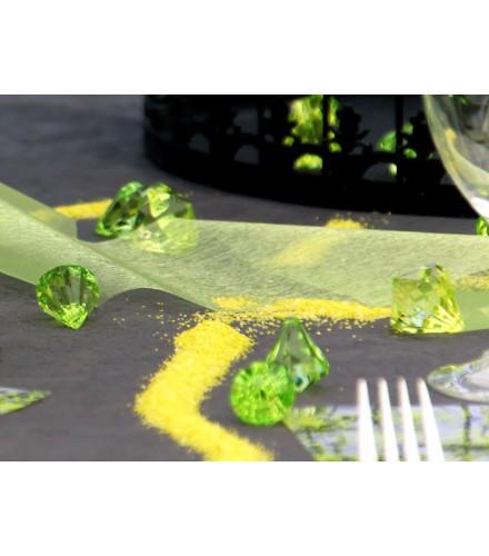 10 déco de table diamant coloré translucide