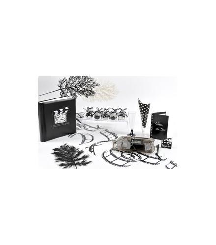chemin de table jetable blanc pellicules cin ma en tissu. Black Bedroom Furniture Sets. Home Design Ideas