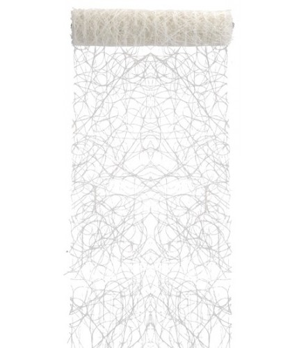 Chemin de table jetable color en sisal plastique chic drag e d 39 amour - Chemin de table en papier jetable ...
