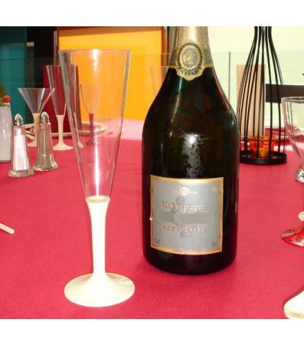 """Flûte à Champagne """"Pied Couleur"""""""