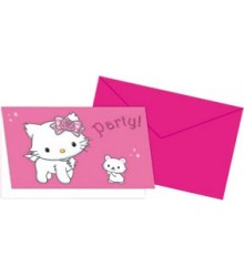 Carte d'Invitation Charmmy Kitty + Enveloppe