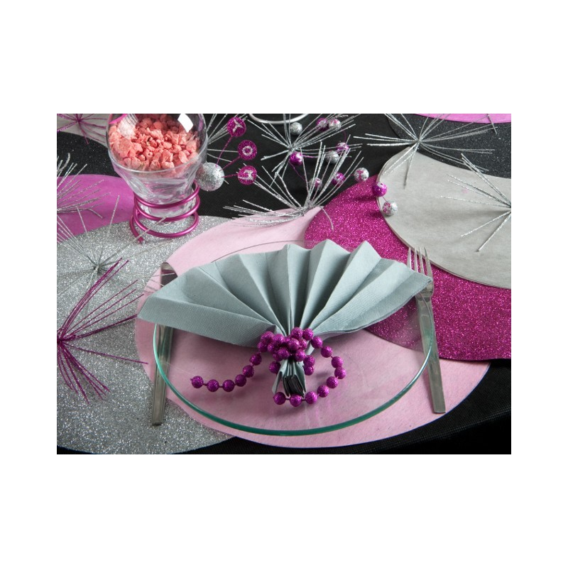 Set de table rond paillet sets de tables for Sets de table rigides