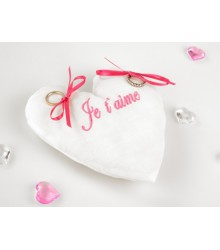 Coussin Alliance Coeur Mariage