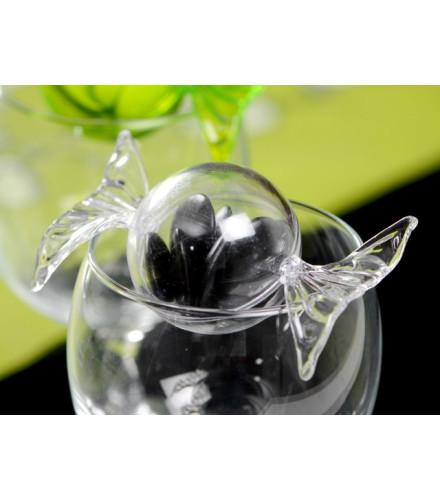 10 bonbons plexi transparent à dragées confiserie