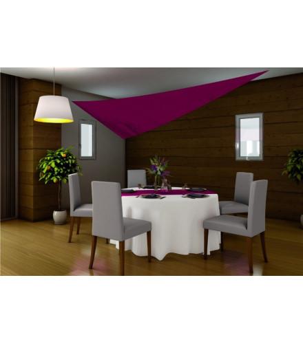 Tenture mariage triangle bordeaux en tissu pour plafond