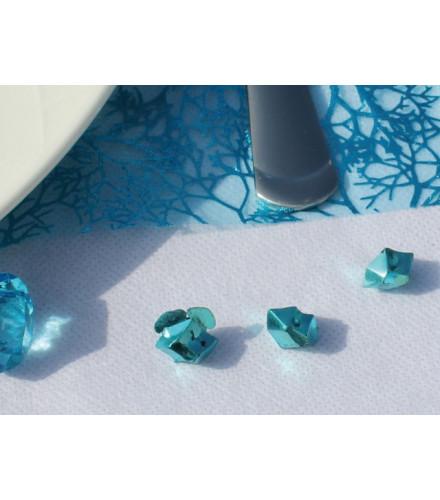 10 diamants carrés translucides déco colorés en plastique