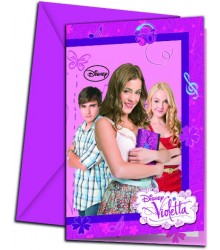 Carte d'Invitation Disney Violetta