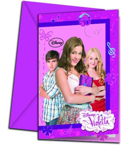 Carte d 39 invitation disney violetta drag e d 39 amour - Photo de violetta a imprimer gratuit ...