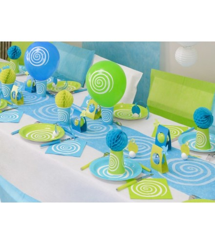 chemin de table jetable color spirales en tissu drag e d 39 amour. Black Bedroom Furniture Sets. Home Design Ideas