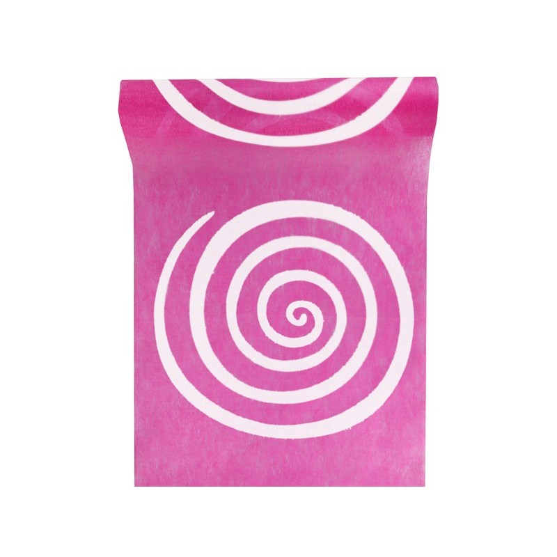 Chemin de table jetable color spirales en tissu drag e d 39 amour - Chemin de table en papier jetable ...