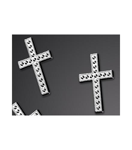 Petite Croix Décorative Argent