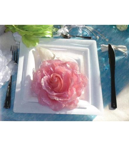 Grande Rose Décor en Tissu 15cm