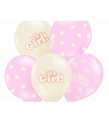 Ballons gonflables naissance fille