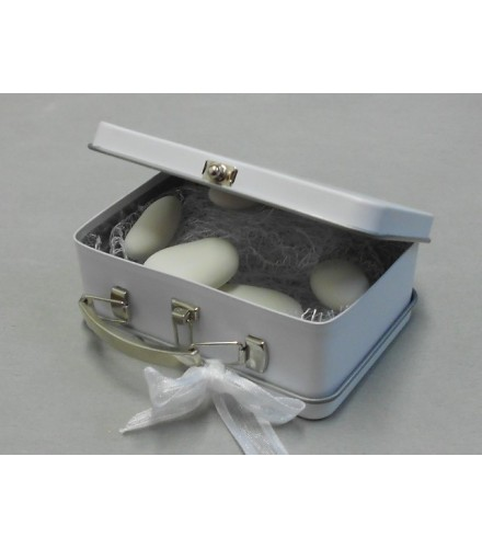 mini valise drages blanche - Valise Dragees Mariage