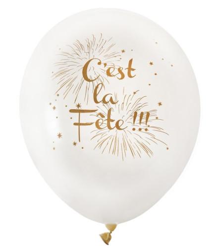 """Ballon Imprimé """"C'est la fête"""""""