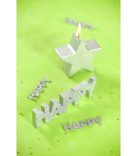 """Lettres Brillantes """"Happy"""""""