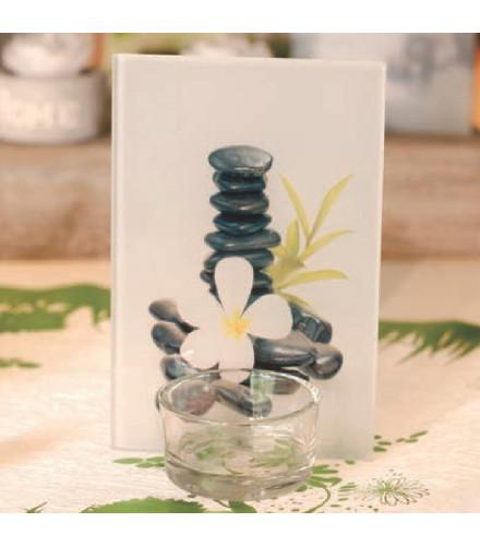 Porte bougie d co zen sujets en verre mariage for Decoration porte verre