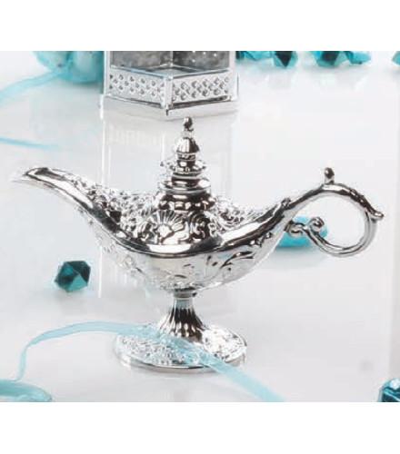 12 contenants à dragées orientaux lampe d'Aladin argent