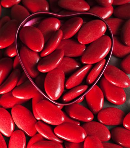 Dragées Avola Reynaud impériale rouge – 1 kilo