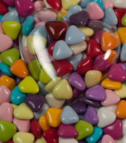 Dragées cœur chocolat Reynaud multicolores – 1 kilo