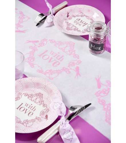"""Chemin de Table """"With Love"""""""