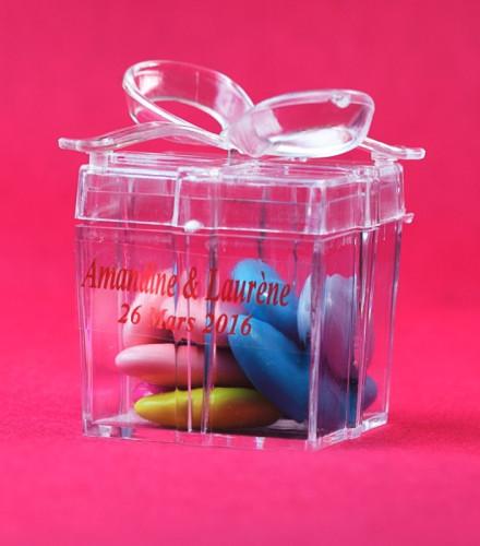 6 contenants transparents drag es cube cadeau drag e d 39 amour. Black Bedroom Furniture Sets. Home Design Ideas