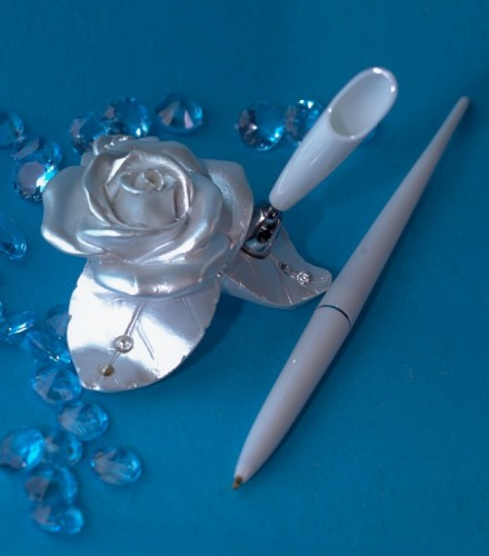 Stylo Livre d'Or Mariage Roses