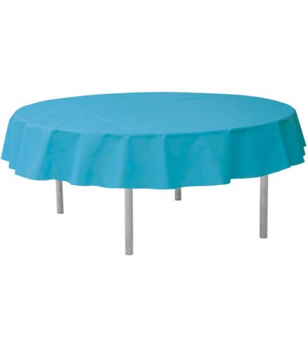 Nappe Ronde Jetable 240 cm Turquoise