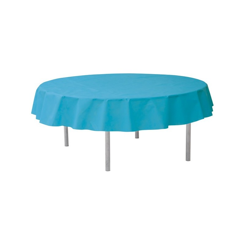 nappe ronde jetable 240 cm turquoise drag e d 39 amour. Black Bedroom Furniture Sets. Home Design Ideas