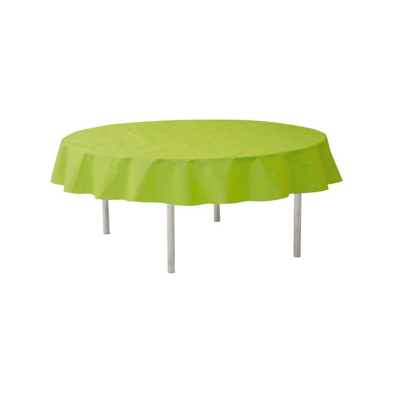 nappe ronde jetable 240 cm vert anis drag e d 39 amour. Black Bedroom Furniture Sets. Home Design Ideas