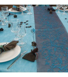 Nappe Rectangulaire 150 x 300 cm Turquoise